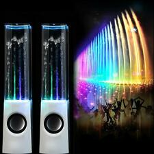 LED Dancing Water Show Music Fountain Light Speaker for Laptop iPhone iPad4 iPod