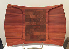 Vintage Dansk Jens Quistgaard Rare Woods Pao Rosa Wood Board / Tray Signed
