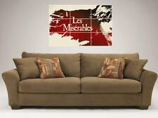 "LES MISERABLES MOSAIC TILE 35"" BY 25"" INCH LARGE WALL POSTER STAGE FILM LES MIS"