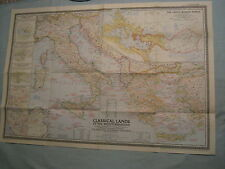 VINTAGE CLASSICAL LANDS OF THE MEDITERRANEAN MAP National Geographic Dec. 1949