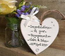 Personalised Plaque Engagement/Anniversary/Wedding Heart Keepsake Shabby Chic