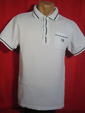 Fred Perry Mens Polo Shirt Short Sleeves White FredPerry S Small