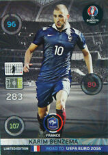 Panini Adrenalyn XL Road to UEFA Euro 2016. Limited Edition Karim Benzema