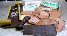 LOT OF LEATHER CRAFTING ITEMS~7 CRAFTOOLS~SWIVEL KNIFE~SUPPLIES~ HOW TO BOOK