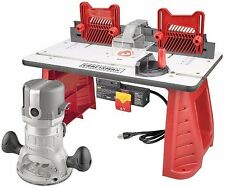 NEW Craftsman Router Table Combo 1-3/4 HP Wood Cutting Shaper Miter Saw Tool Set