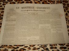LE MONITEUR UNIVERSEL, journal officiel de l'empire français, n° 285, 12/10/1858