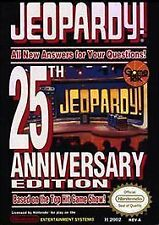 JEOPARDY 25th ANNIVERSARY with cosmetic flaws NINTENDO GAME SYSTEM NES HQ
