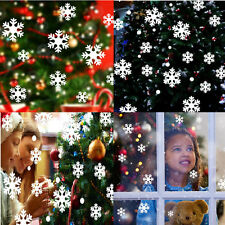 Christmas White Snow Snowflake Wall Stickers Vinyl Decal Window Decor Removable
