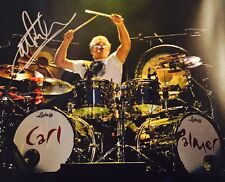 Carl Palmer ASIA Emerson Lake & Palmer Signed Autographed Bass Drum 11x14 Photo