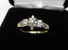 1/2 Carat Marquise Cluster Diamond Engagement Bridal Ring 10k Yellow Gold Sz 7