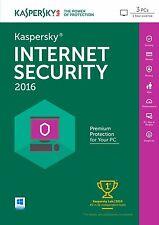 KASPERSKY INTERNET SECURITY 2016 3PC/1YEAR | DOWNLOAD | NO CD | ANTIVIRUS