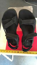 ECCO Men's Black Leather Sandal BIOM Natural Motion Size 13 US 47 Euro New