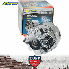 Holden EH HD HR Red 6 Cylinder Proform Chrome Alternator 100 AMP Internal Reg