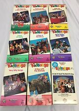Kidsongs VHS Lot 9 Sing-a-Long Vintage Video Tapes Farm Roller Coaster Circus