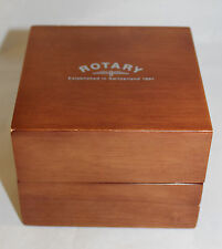 Rotary Gold Wooden Presentation Watch Box Case Excellent Condition
