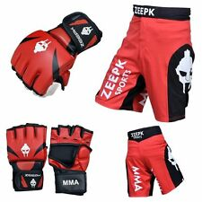 UFC FIGHT KIT MMA Cage Grappling Kickboxing Veno Fight Gear Set Red Black Zeepk