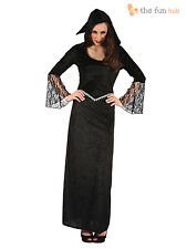 Ladies Gothic Witch Vampire Costume Adults Halloween Medieval Fancy Dress Outfit