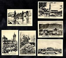 Swiss Views Ackermans Chocs 1920s Switzerland Berne Geneva Lucerne Basle Market