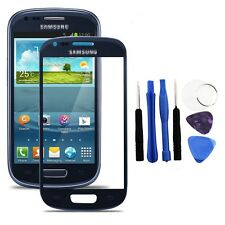 Blue Outer LCD Screen Glass for Samsung Galaxy S3 Mini GT i8190 + Adhesive+Tools
