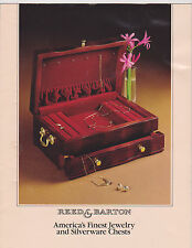 VINTAGE CATALOG #2432 - 1970s REED AND BARTON SILVERWARE CHESTS