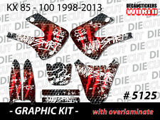 *NEW* GRAPHIC KIT KX85 KX100 KX 85 100 RED VINYL DECAL STICKER GRAPHICS 5125
