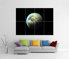 PLANET EARTH SPACE GIANT WALL ART XL PICTURE PRINT PHOTO POSTER J92