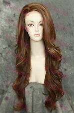 Light Brown Blonde Mix Long Heat OK Lace Front Wavy Synthetic Wig SAKI 8/27/613