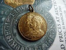 king george v queen mary coronation 1911 brass medal