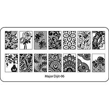 Nail Art Stamping Plates Template Image Konad Plate Black Enchantress Vase MJ06