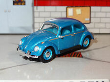 1960's VOLKSWAGEN CLASSIC BEETLE BLUE 1/64 SCALE DIORAMA DIECAST COLLECTIBLE PG