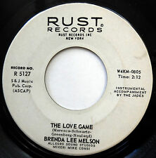 BRENDA LEE MELSON 45 The Love Game / Valley Of Love NORTHERN SOUL Rust e3371