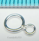 10x STERLING SILVER Mother and Child CLOSED DOUBLE JUMP RING 5mm 2.8mm N648