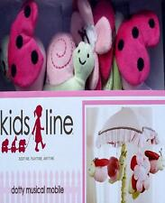KIDSLINE DOTTY GARDEN FRIENDS MUSICAL  NURSERY BED MOBILE CRIB BEDDING NEW.