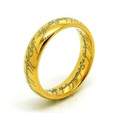 US Size 6-13 The Gold Color Tungsten Carbide One Ring Men Fashion Ring