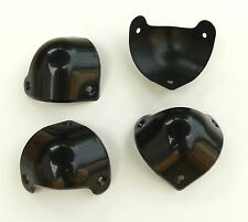 Set of 4 Black Plastic Corner Protector Guitar Loudspeaker PA Amplifier Cabinet