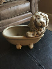 Vintage Clay Pottery- Whimsical Lion Soap Dish/Figure/ Planter