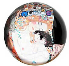 GUSTAV KLIMT Woman Mother Child Baby Gift Glass Paperweight Art Figurine Figure