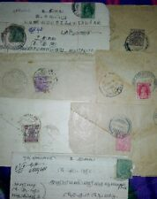 lot of 8 diff. british india stamps on 8 postal covers!