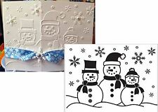 Christmas Embossing Folders SNOWMAN folder 1215-57 Cuttlebug Compatible Holidays