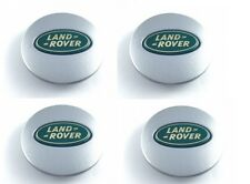 4 x Land Rover Silver Green Alloy Wheel Centre Cap 63mm Discovery Defender
