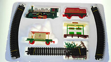 CHRISTMAS TOY TRAIN 32 Pieces  ENGINE SET TRACK STATION & TREES ROUND XMAS TREE