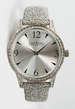 Joan Rivers Classics Collection Women's Silver-Tone Watch with Grey Beaded Strap