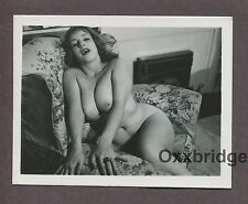 Big Breasts Buxom D Cup Girly Girl 1950 ORIGINAL VINTAGE NUDE PINUP PHOTO B1677