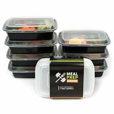 Travel To-Go 7 Food Storage Container Meal Prep Bento Plastic Kids Lunch Box Cup