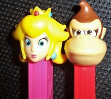 Set of 2 NEW NINTENDO PEZ-DONKEY KONG & PRINCESS PEACH MINT LOOSE