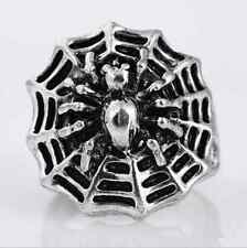 Hot sell 316l stainless steel Fashion Punk design Spider web ring US size9 G44