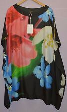 Ted Baker Stelli Forget Me Not Loose Mulberry Silk Tunic Dress Size TB 5 US 12