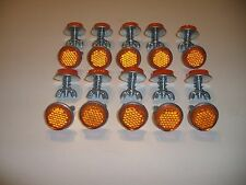 """20 Orange Goliath Tool Mini Bicycle Reflectors 7/8"""" Diameter with Wing nuts"""
