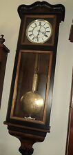 Antique Wall Clock - Beautiful Etched Weight and Bob - FREE Shipping!!