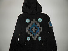 L@@K~NWT~DOUBLE D RANCH HOODED JACKET~BLACK~QUILTED~EMBROIDERY~BEAUTIFUL~L